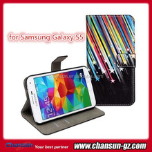 New arrival for Samsung galaxy S5 wallet leather case cover skin