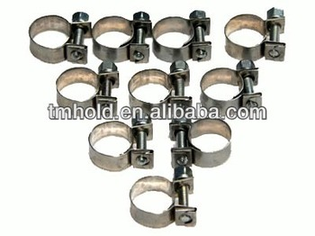 mini strong round pipe clamps with galvanized M7 screw