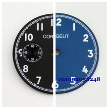 Watch Parts, Corgeut 38.9mm Black Blue Watch Dial, Fit for 6497 Hand Winding Watch Movement, Timepiece Part for DIY Clock CD2003