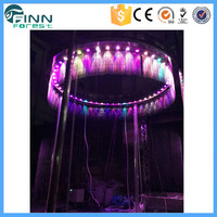 Round graphic waterfall outdoor indoor advertisement/decoration digital water curtain