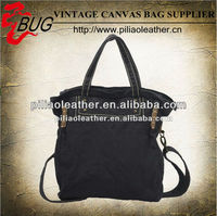 2013 latest fashion bags ladies handbags/washed navy canvas bag/lady's canvas bag