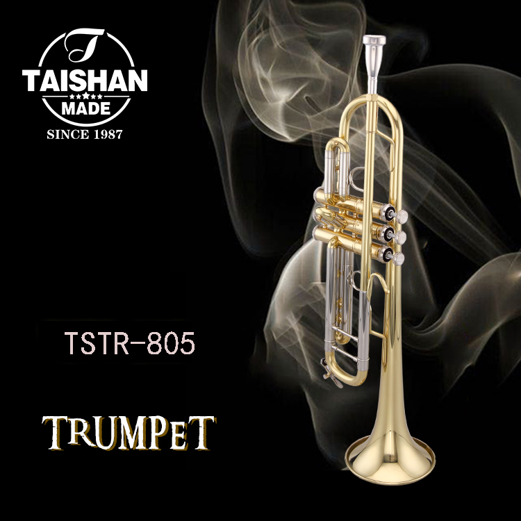 TAISHAN 805 Musical Instrument Bb Tone Professional Trumpet with 7C Mouthpiece