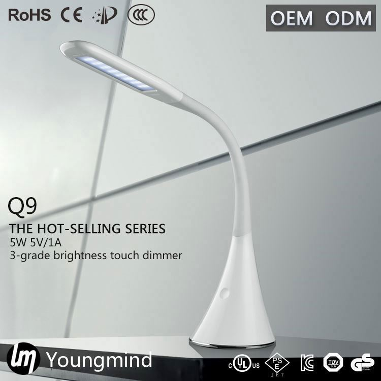 led desk lamp with outlet in base