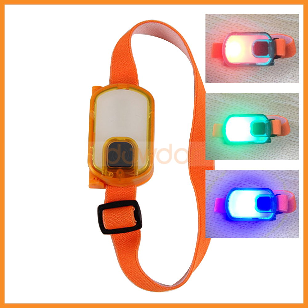 3 Led 8 Modes Night Running Sports Lamp Wrist Light Mini Hand Free Headlamp for Inspection