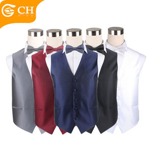 Latest Design of Waistcoat Handsome Polyester Suit Vest for Business