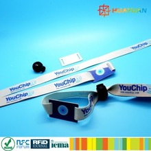 woven and pvc Ntag213 nfc wristband for music festival events