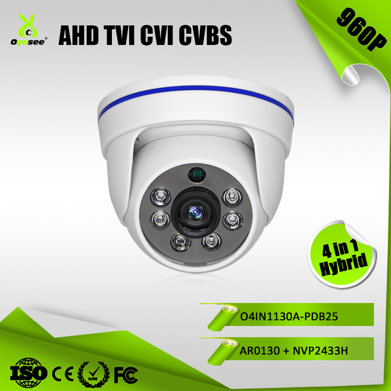 O4IN1130A-PDB25 1.3MP 960P IR Range 25m AHD TVI CVI CVBS Hybrid 4 in 1 ulo security near infrared snake camera