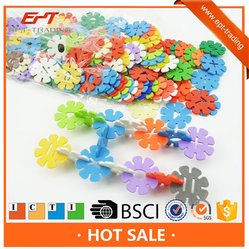 Hot selling enlighten puzzle snowflake building block toy brick set