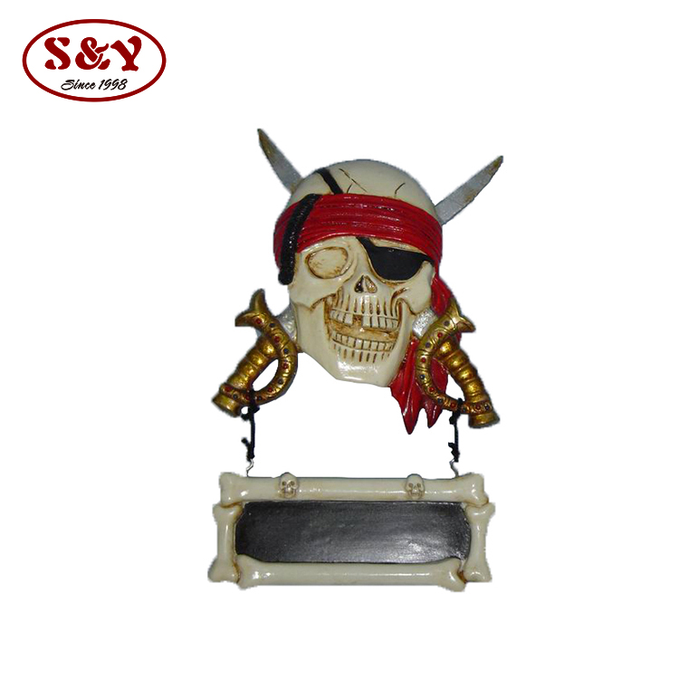 Pirate 3d wall decor resin figurine