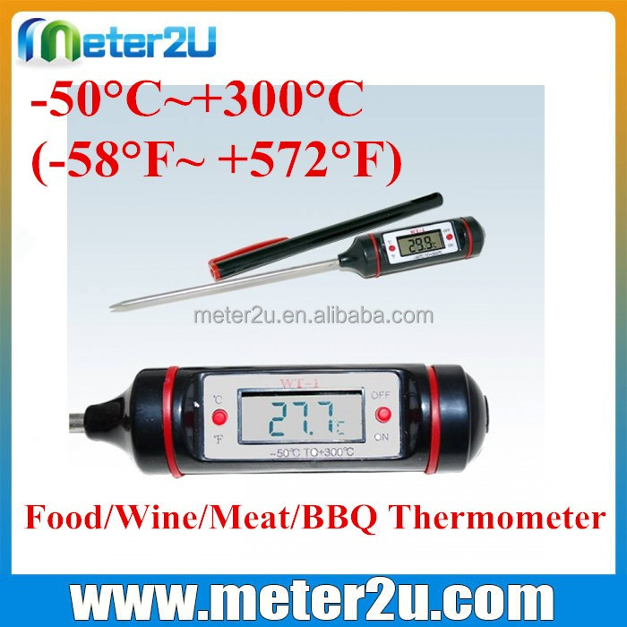 Pen style digital thermometer with probe temperature thermostats