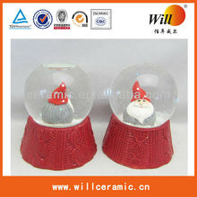 Christmas cearmic santa crystal ball,water ball