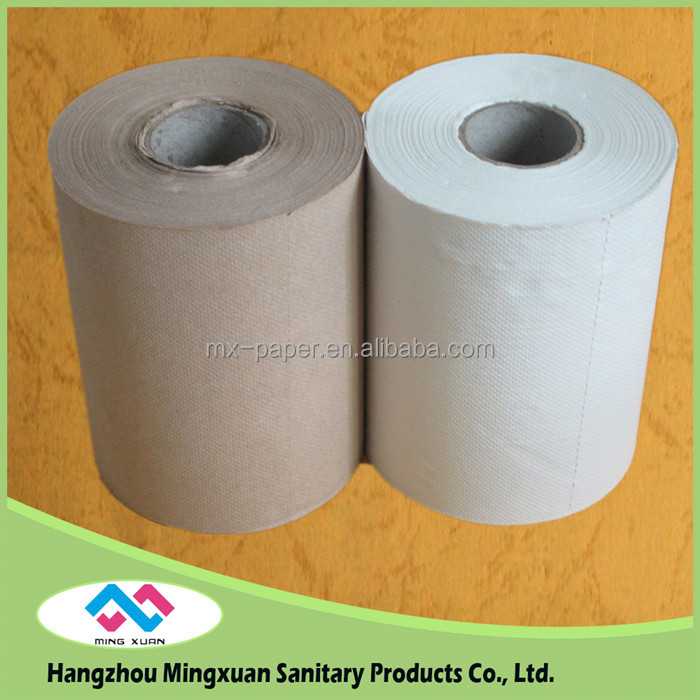 2016 newest hot selling Hotel Kraft Paper Towel , Unbleached Roll Paper