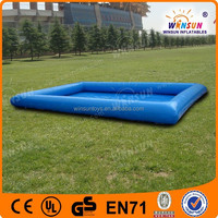 Rectangle PVC cheap custom adult size inflatable pvc swimming pool
