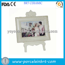 European Style white beautiful rectangle resin white porcelain picture frames