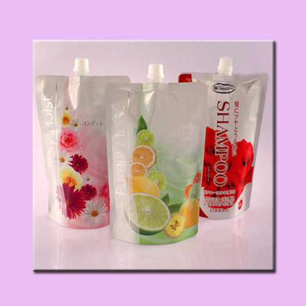 Plastic foil stand up jelly drink pouch