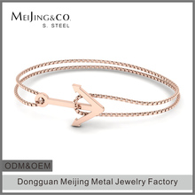 Latest Cheap Friendship Rose Gold Womens Anchor Chain Bracelet