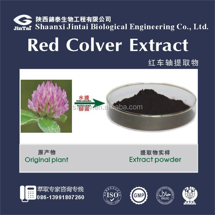 Pure 2.5% 8% 20% 40% Isoflavones extract powder Red Clover P.E.