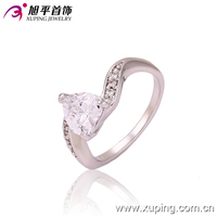 13257-xuping fashin jewelry elegant latest women platinum heart aaaaa cubic zirconia rings