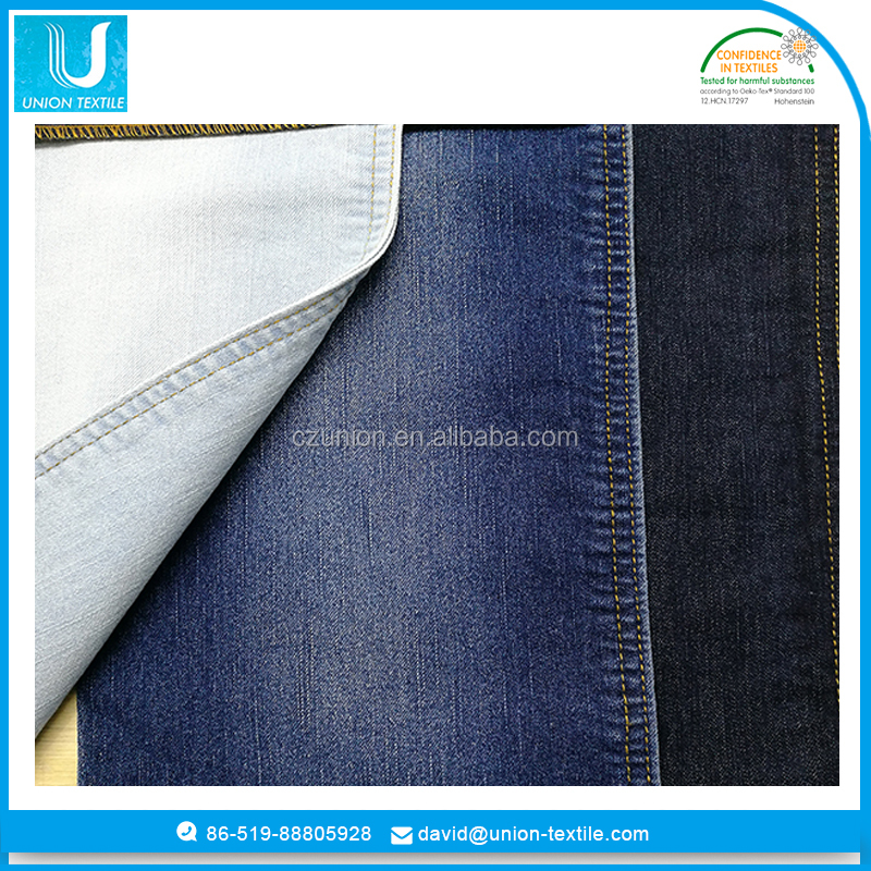 wicking cotton poly spandex denim fabric
