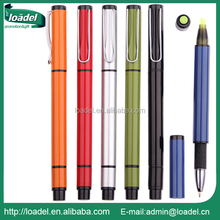 Promotion ball pen with highlighter metal clip digital highlighter pen