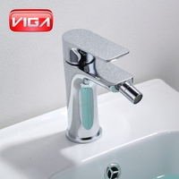 Contemporary Bathroom Faucet Bidet Mixer Chrome Finished