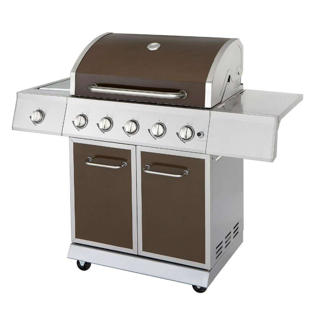 barbeque qqb grill with 5 burners and a side burner buy barbeque qqb grill commercial gas bbq. Black Bedroom Furniture Sets. Home Design Ideas