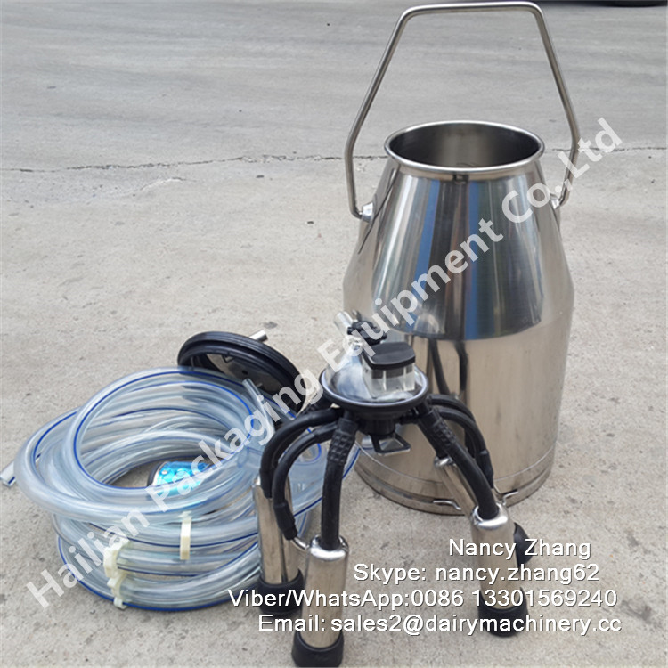 Stainless Steel Portable Cow Milker with Cluster Group 240CC