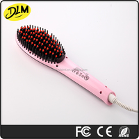 usefull good quality best seller Fast Hair straightener with brush LCD pink white black