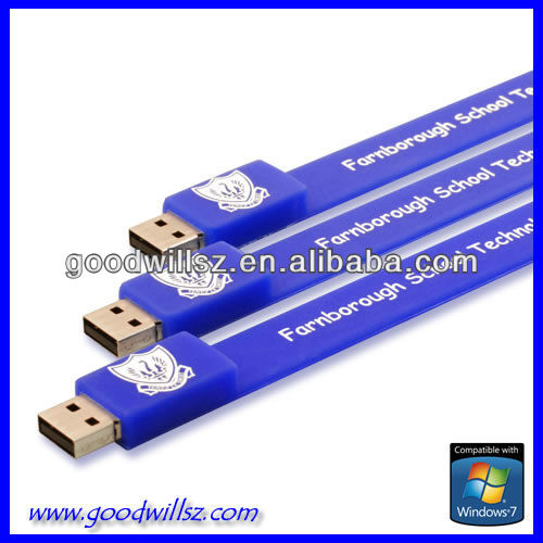 Promotion USB Silicone Wristband USB\ pen drive \memory\disk