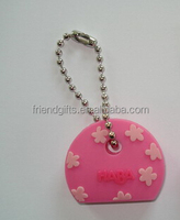 personalized cute cheap soft pvc key cap cover