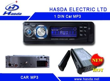single din car radio player with mp3 /USB ,slip down detachable panel .Hasda H-7003