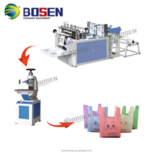 Two lines hot cutting bag making machine