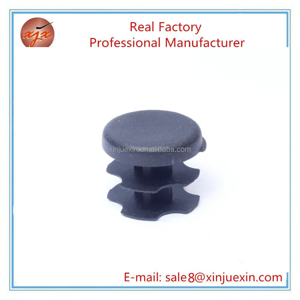 Round head customized 13mm plastic tube insert for chair steel tube