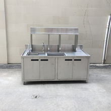 Wholesale Price Restaurant Equipment kitchen sink /work table with cabinet and shelves