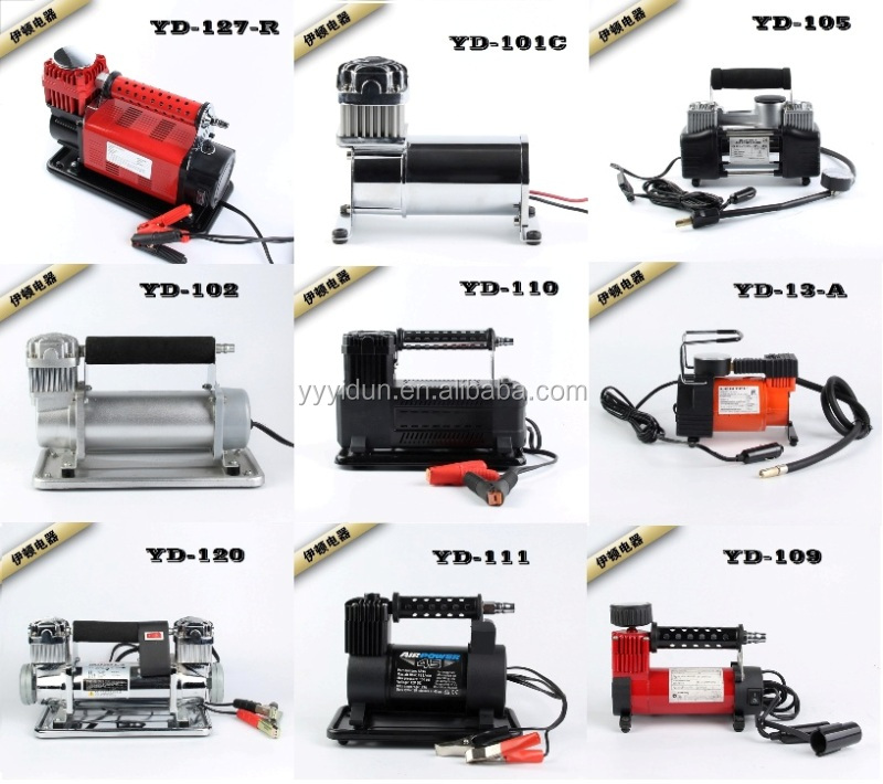 Portable air compressor DC 12V mini car air compressor auto air compressor electric micro pump tire inflator tire pump