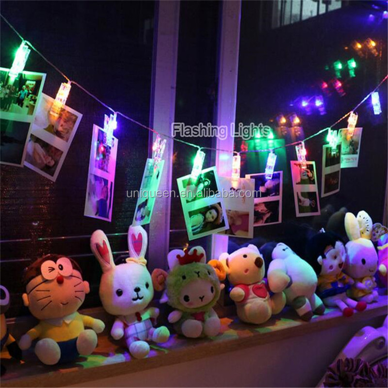 Holiday Living Christmas Decorations Clamp Battery Powered Wire Lighting Chain Festival Merchandise Led Clip Design String Light