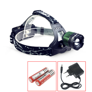 1000Lm XM-L T6 LED Zoomable Headlight Head Torch Lamp Headlamp Flashlight 4-modes Fishing Camping lamp power by 2x18650