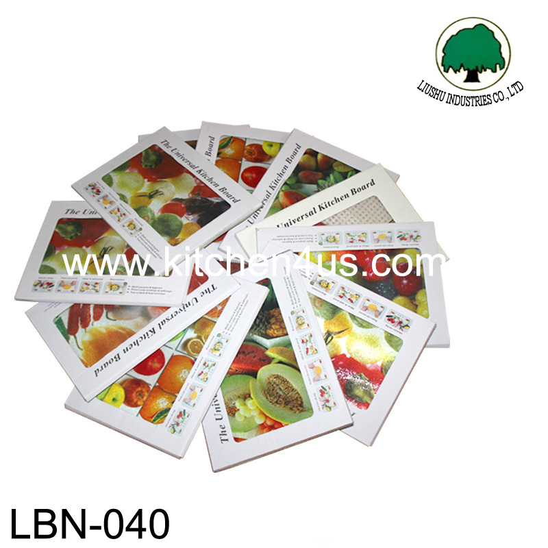 the universal tempered glass kitchen board/chopping block/glass cutting board for fruit and vegetable
