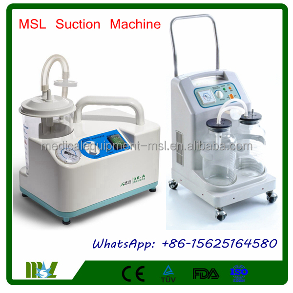 New Upgraded Medical suction Machine Price/Portable Electric Suction Apparatus MSL9E-A/MSL9E-D-4