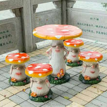 MGO Mushroom Table and Chair for garden decoration