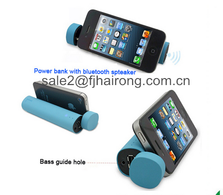 Hot Factory Price 3 in 1 4000mah Mobile Power Bank Mini Bluetooth Speaker with phone holder