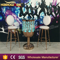 wholesale hot sale changeable colour luminous stainless steel lighting led bar table bar furniture