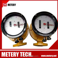 High viscosity oval gear flow meter with pulser