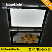 Edgelight Factory wholesale illuminated restaurant menu led flat light box with CE & UL Certification