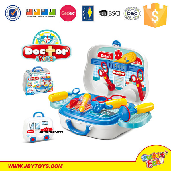 Enlighten Medical Kit Toy With First-aid Case Children Plastic Pretend Play car doctor diagnostic tool Doctor Set Toy
