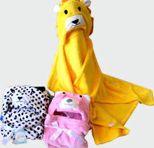 Microfiber animal baby hooded towel online shop china