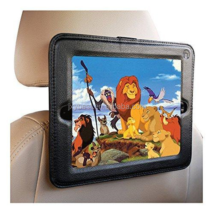 Car seat bag for ipad Factory custom PU Leather portable Headrest Holder Mounting Strap car seat Case For iPad for tablet pc