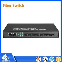 Full-duplex IEEE802.3x Flow Control with 8 Port SFP Fiber Switch