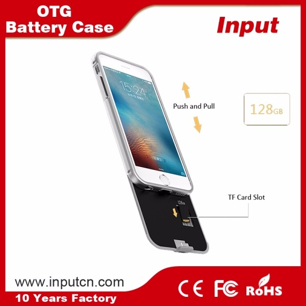 For iphone otg memory expansion battery case power bank back up case 2300mah