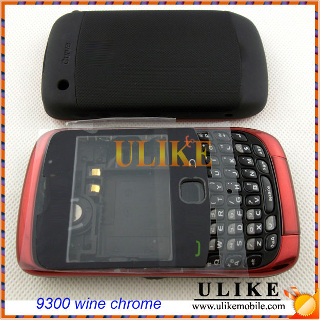 CARCASA For BlackBerry 9300 Con elementos Vino cromado